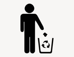 Abfall recycling - Aufkleber für Gewerbe
