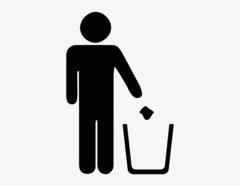 Abfall - Aufkleber für Gewerbe
