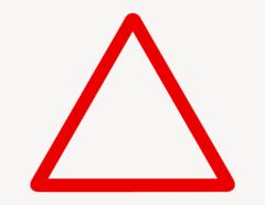 Achtung Dreieck - Aufkleber für Gewerbe