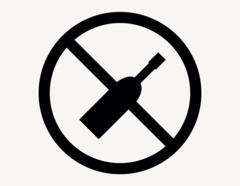 Alkohol verboten - Aufkleber für Gewerbe