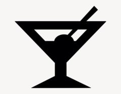 Cocktail - Aufkleber für Gewerbe