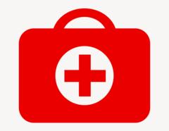 Erste Hilfe Koffer - Aufkleber für Gewerbe