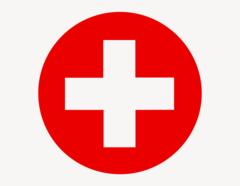 Erste Hilfe Kreis - Aufkleber für Gewerbe