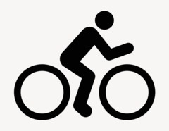 Fahrrad - Aufkleber für Gewerbe