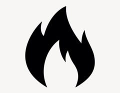 Flamme - Aufkleber für Gewerbe