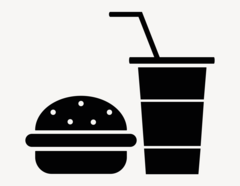Food - Aufkleber für Gewerbe