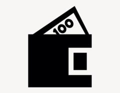 Geldbörse - Aufkleber für Gewerbe