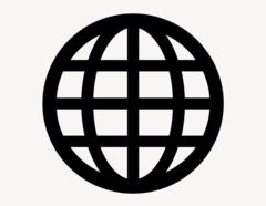 Globus #2 - Aufkleber für Gewerbe