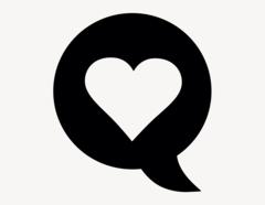 Herz Sprechblase - Aufkleber für Gewerbe