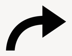Pfeil Finn-Bogen rechts - Aufkleber für Gewerbe