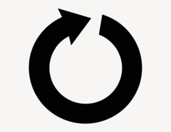Pfeil Finn-Cycle - Aufkleber für Gewerbe