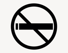 Rauchen verboten - Aufkleber für Gewerbe