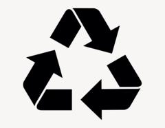 Recycling Logo - Aufkleber für Gewerbe