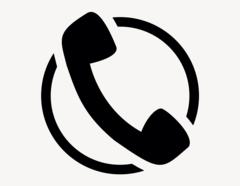 Telefonhörer Kreis - Aufkleber für Gewerbe