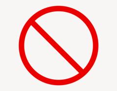 Verboten - Aufkleber für Gewerbe