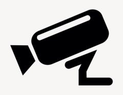 Videokamera links - Aufkleber für Gewerbe