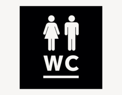 WC #1 - Aufkleber für Gewerbe