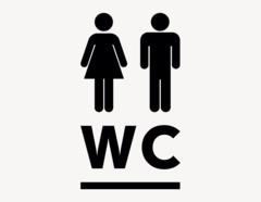 WC #2 - Aufkleber für Gewerbe