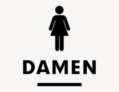WC Damen #2 - Aufkleber für Gewerbe