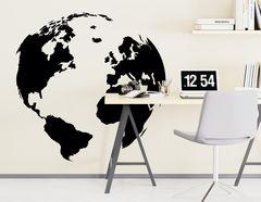 """Wandtattoo """"Fernweh"""" zeigt einen Globus"""