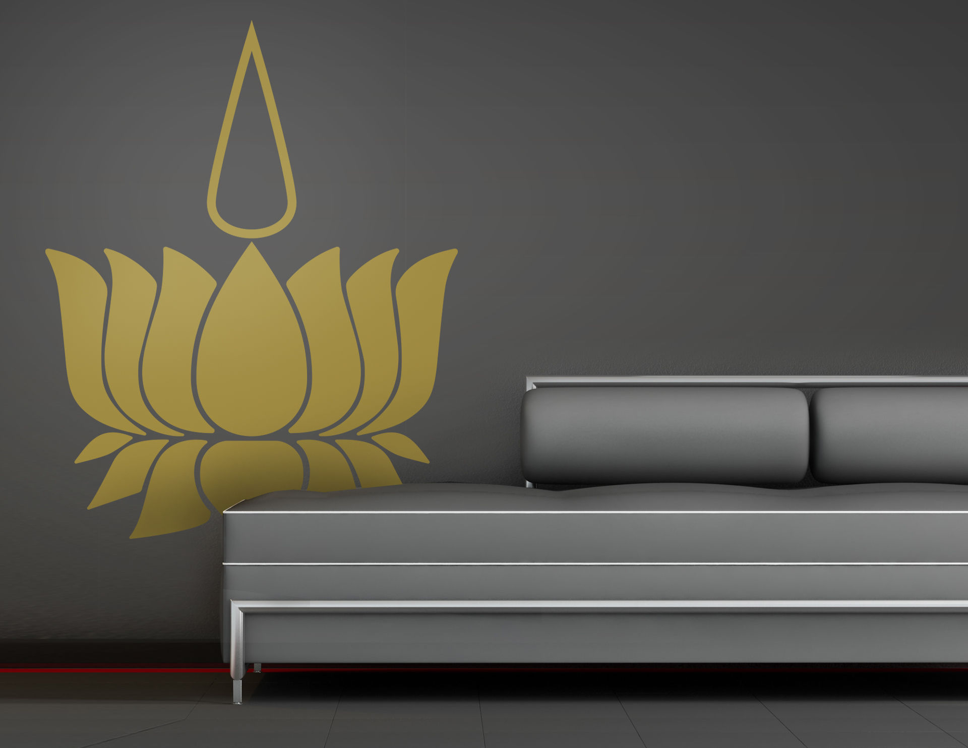 Wandtattoo Golden Light Lotus