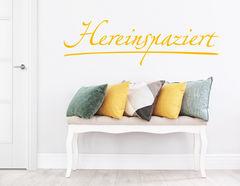 """Wandtattoo """"Hereinspaziert"""": Heißt alle Besucher willkommen"""