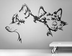 Wandtattoo Huskies