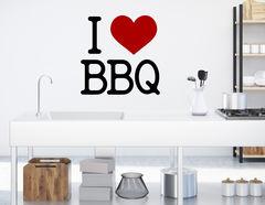 """Wandtattoo """"I love BBQ"""" für Freiluft-Gourmet's"""