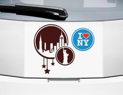 Autoaufkleber I love NY