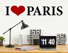 Wandtattoo I love Paris