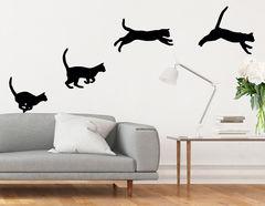 """Wandtattoo """"Katzensprung"""" für Tierliebhaber"""