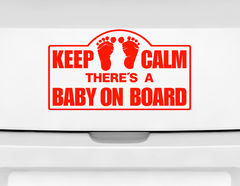 "Autoaufkleber ""Keep Calm Baby"": Keep Calm, Baby on Board!"