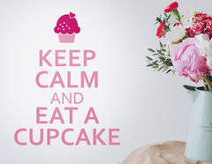 Wandtattoo Keep calm Cupcake