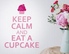 Wandtattoo Keep calm Cupcake