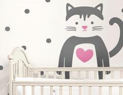 Wandtattoo Kitty Love