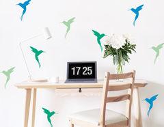 """Wandtattoo """"Kolibri Reise"""" für Vogelfreunde"""