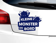"""Autoaufkleber """"Kleine Monster"""" perfekt für jedes Elterntaxi"""