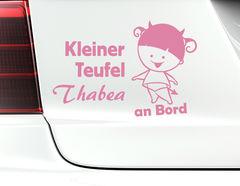 "Autoaufkleber ""Kleine Teufelin"" für alle süßen Quälgeister"