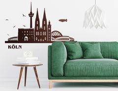 "Wandtattoo ""Kölner Skyline"" zeigt berühmte Orte"
