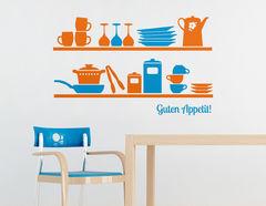 Wandtattoo Küchenregal