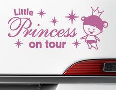 "Autoaufkleber ""Little Princess on Tour"" Prinzessin auf Fahrt"