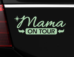 "Autoaufkleber ""Mama on Tour"" für alle Power-Moms"