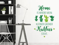 """Wandtattoo """"Kleiner grüner Kaktus"""" zeigt Urban-Jungle Flair"""