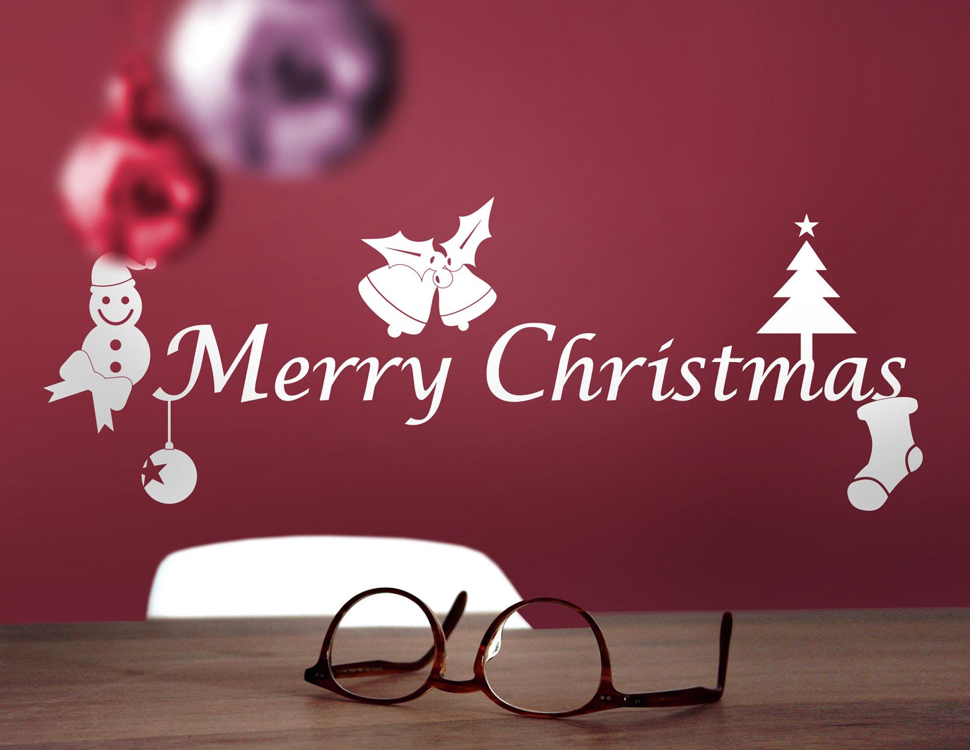 Wandtattoo Merry Christmas