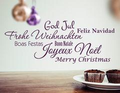 Wandtattoo Merry Xmas Worldwide