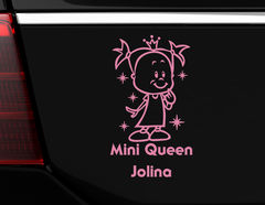 """Autoaufkleber """"Kleine Königin"""" für kleine Mini Queens"""