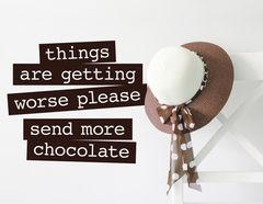 Wandtattoo More Chocolate, süßer Spruch für alle Schoki-Fans