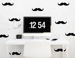 """Wandtattoo """"Moustaches"""" besteht aus 9 kleinen Schnurrbärten"""