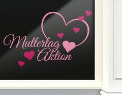"""Aufkleber """"Muttertag Aktion"""" für Laden & Geschäft"""