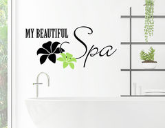 "Wandtattoo ""My beautiful Spa"" bringt Luxus ins Badezimmer"